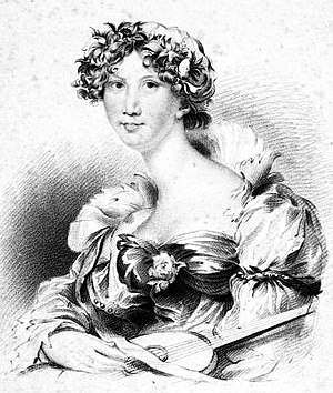 Anna Maria Porter - Anna Maria Porter, from an engraving for The Ladies' Pocket Magazine (1824)