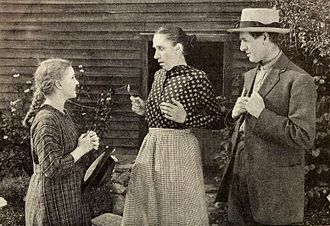 Marcia Harris - Still with Mary Miles Minter, Marcia Harris, and Frederick Burton in Anne of Green Gables (1919)