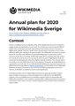 Annual plan for 2020 for Wikimedia Sverige (English).pdf