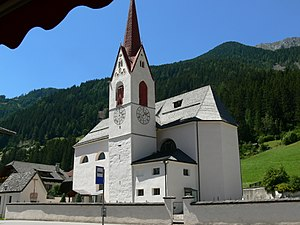 Antholz-Mittertal - Saint George's church (1794) at Antholz-Mittertal