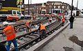 Anzin & Valenciennes - Travaux de raccordement des lignes A & B du tramway de Valenciennes à la Croix d'Anzin le 20 août 2013 (03).JPG