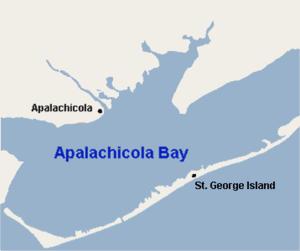 Apalachicola Bay - Apalachicola Bay, Florida.