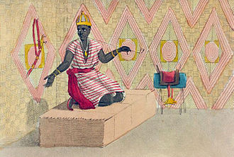 Saloum - Apartment of the Maad Saloum (king of Saloum) in 1821.