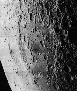 Apollo (crater) - Oblique Lunar Orbiter 5 image