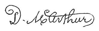 Duncan McArthur - Image: Appletons' Mc Arthur Duncan signature