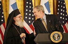 Archbishop Demetrios & POTUS GWBush, 2007March23.jpg