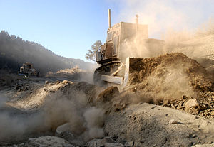 Armored bulldozer in Paktika Province, Afghani...