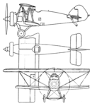 Armstrong Whitworth AW.XIV 3-view Aero Digest November,1930.png