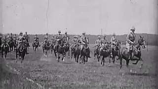<i>Army Life; or, How Soldiers Are Made: Mounted Infantry</i> 1900 British propaganda film directed by Robert W. Paul