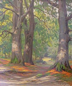 Arnold Lyongrün - Arnold Lyongrün: Beech Forest (1899)