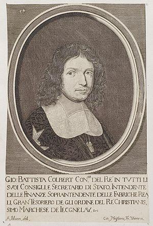Adriaen van Bloemen - Engraved portrait of Jean-Baptiste Colbert