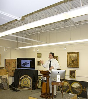 Art auction - An art auction in Newton, Massachusetts, USA (Tremont Auctions)