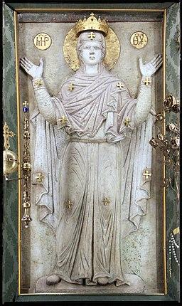Arte bizantina, Madonna Greca, bassorilievo marmoreo del IX secolo
