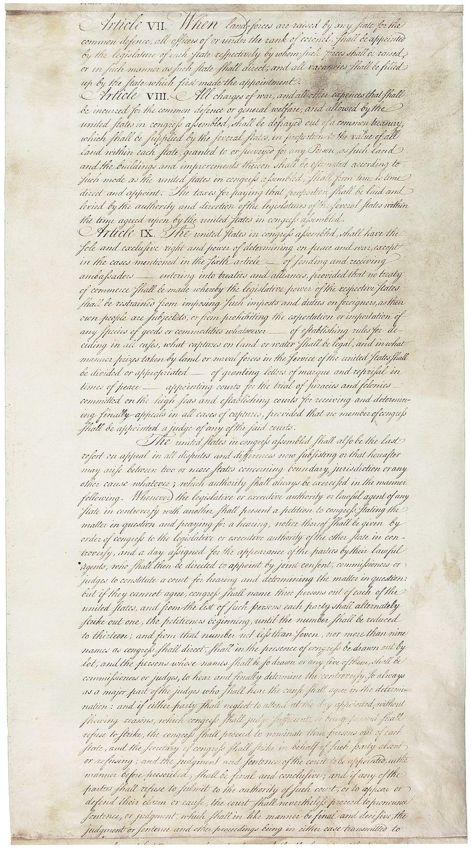 Articles of Confederation 7-9