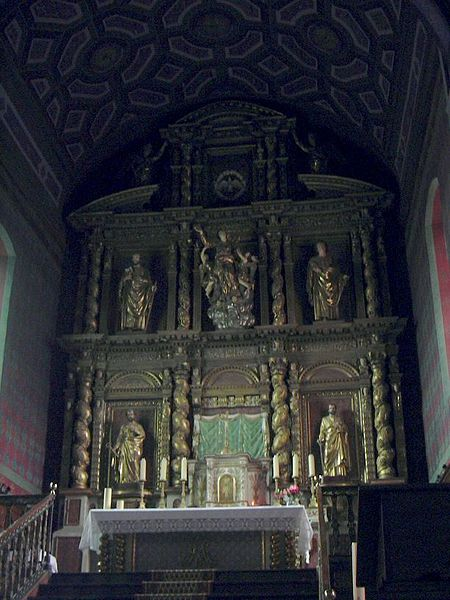 Our-Lady-of-the-Assumption's church of Ascain (Pyrénées-Atlantiques, Aquitaine, France).