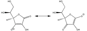 Ascorbic acid (molecular aspects) - Canonical structures for the ascorbate anion