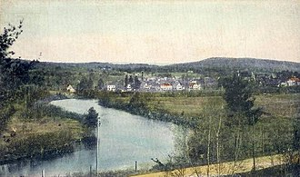 Ashuelot River - View of the Ashuelot River, West Swanzey, New Hampshire. 1915 postcard