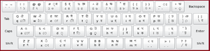 Assamese alphabet - Assamese keyboard layout (Inscript)