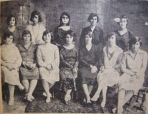 Simin Behbahani - Board of Governors of Association of Patriotic Women, Tehran, 1922