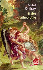 Copertina originale del Trattato di ateologia, raffigurante la parte sinistra dell'opera di Eugène Delacroix Lotta di Giacobbe con l'angelo, quadro di epoca romantica raffigurante il titanismo eroico, in lotta contro il mondo e anche contro il trascendente.