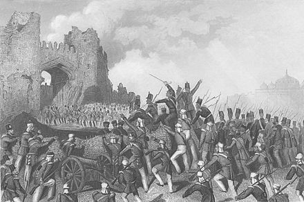 Assault of Delhi and capture of the Cashmere Gate, 14 September 1857 Attack1857.jpg