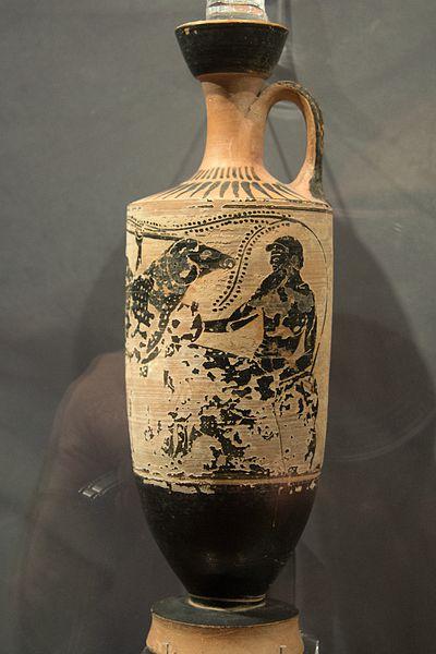 File:Attic black-figure lekythos, Odysseus,Theseus Painter ...
