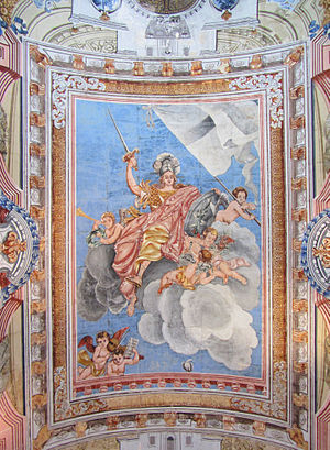 Melita (personification) - Ceiling painting of Melita at Auberge de Provence