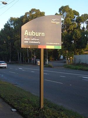 City of Auburn -  Auburn Council sign, Parramatta Road