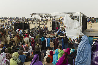 Festival au Désert - Audience at the festival near Timbuktu, Mali, 2012.