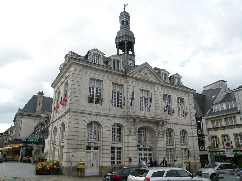 Town hall of Auray built in 1782.