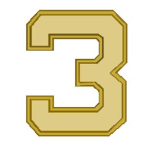 Ronald J. Hays - Image: Award Numeral 3 golden
