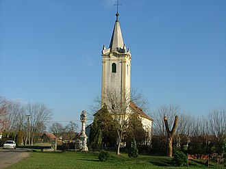 Bögöt - Image: Bögöt templom, emlékpark