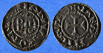 Bertha of Blois - Berthaʻs son Conan II, Duke of Brittany's coins.