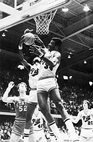 Billy Knight - Billy Knight goes for a rebound in the 1974 Elite Eight during his college playing days at Pittsburgh