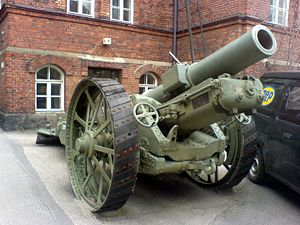 BL 8-inch howitzer Mk VI – VIII - US-built version of Vickers BL 8-inch howitzer Mk 6 outside the War Museum in Helsinki, Finland
