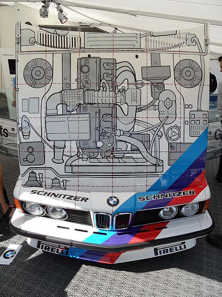 File:BMW E24 635 CSi Grp A Works Original BMW Teile Bonnet.JPG