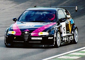 2001 British Touring Car Championship - David Pinkney Alfa Romeo 147 during qualifying for round1 at Brands Hatch