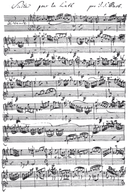 Musical notation free notation lessons and discussion at popflock hand written musical notation by j s bach 1685 1750 this is the beginning of the prelude from the suite for lute in g minor bwv 995 transcription of fandeluxe Choice Image