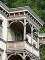 Bad Blankenburg - ehem. Hotel Chrysopras - Balkon an der Nordostfassade von Südosten 1.jpg