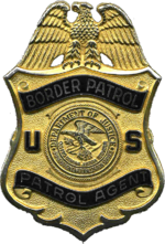 Badge of the United States Border Patrol, circa 1999.