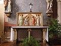 Baguer-Morvan (35) Église Saint-Pierre-et-Saint-Paul - Intérieur - Autel et retable nord 01.jpg
