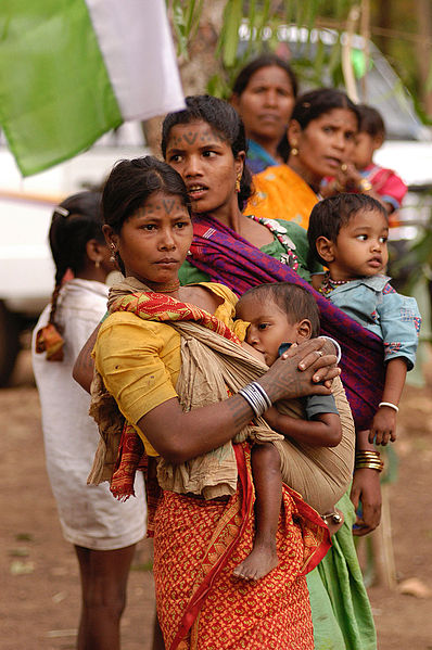File:Baiga women and children, India.jpg