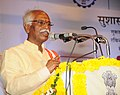 Bandaru Dattatreya addressing the gathering at the inauguration of the Exhibition-cum-awareness programme on three years of Good Governance, in Hyderabad.jpg