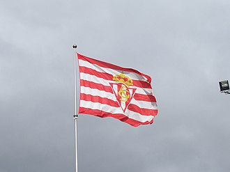 Sporting de Gijón - Club's flag.