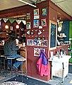 Bar in Bee's Knees café Morrisville VT March 2013.jpg