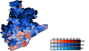 Barcelona (Congress of Deputies constituency) - Image: Barcelona Municipal Map Congress 2011