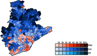 Barcelona (Congress of Deputies constituency) - Image: Barcelona Municipal Map Congress 2011