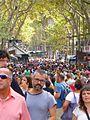 Barcelona - La Rambla, abarrotada de gente.jpg