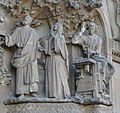 Barcelona Sagrada familia sculptures in the Nativity Facade 2017 08.jpg