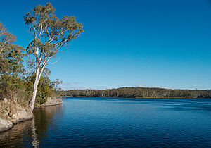 Barossa Reservoir - The reservoir from its arch dam